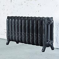 Arroll Montmartre 3 Column radiator, Pewter (W)914mm (H)470mm