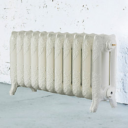 Arroll Montmartre 3 Column Radiator, Cream (W)914mm (H)470mm