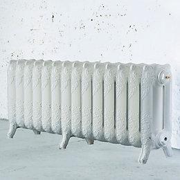 Arroll Montmartre 3 Column radiator, White (W)1154mm (H)470mm