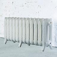 Arroll Montmartre 3 Column radiator, White (W)994mm (H)470mm
