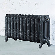 Arroll Montmartre 3 Column radiator, Anthracite (W)914mm (H)470mm