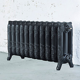 Arroll Montmartre 3 Column radiator, Anthracite (W)914mm (H)470mm