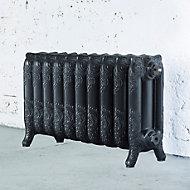Arroll Montmartre 3 Column radiator, Anthracite (W)834mm (H)470mm