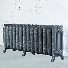 Arroll Montmartre 3 Column radiator, Cast grey (W)1154mm