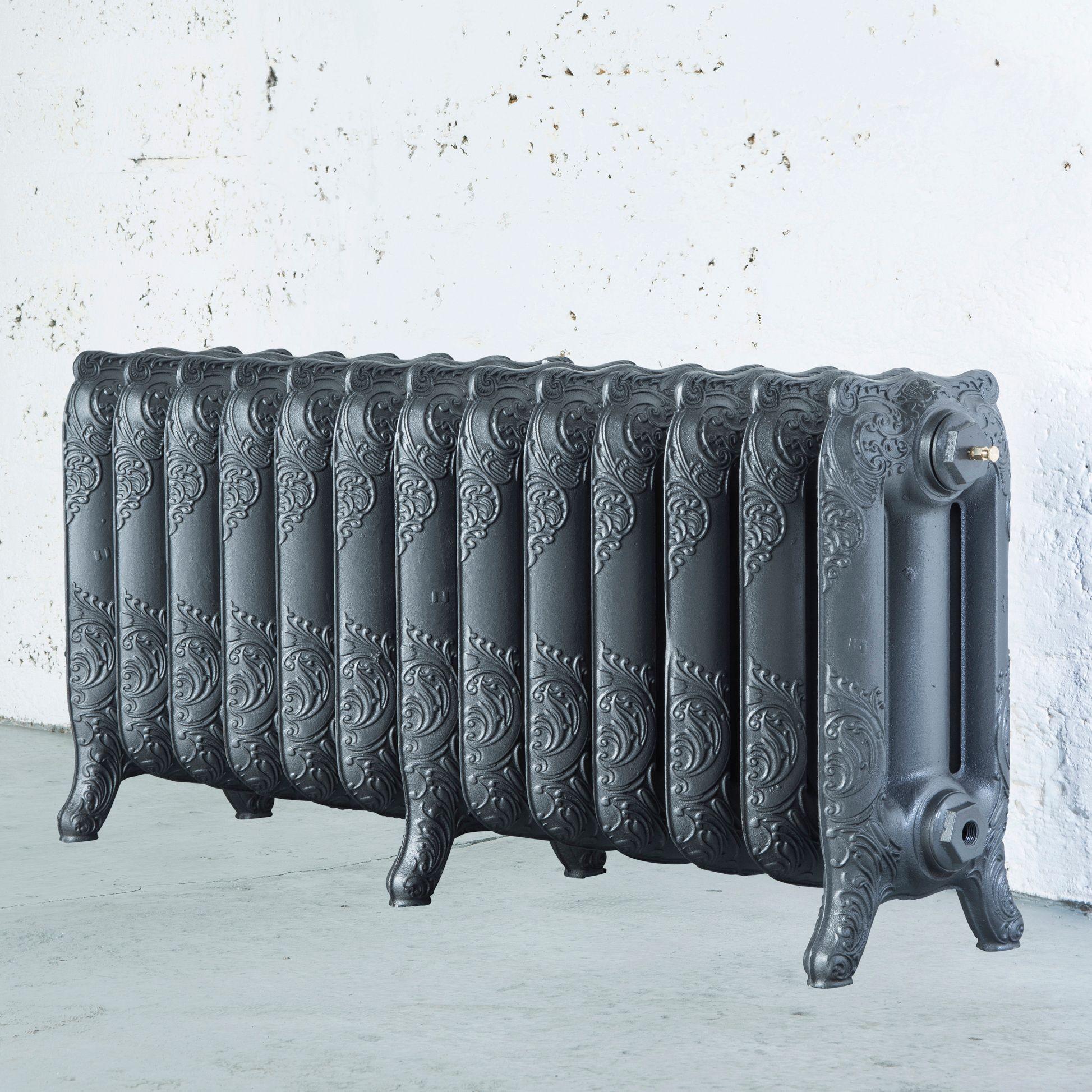 Arroll Montmartre 3 Column radiator, Cast grey (W)1074mm