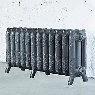 Arroll Montmartre 3 Column radiator, Cast grey (W)994mm (H)470mm