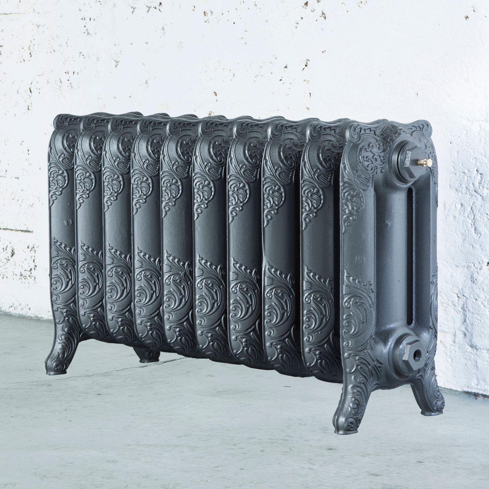 Arroll Montmartre 3 Column radiator, Cast grey (W)834mm