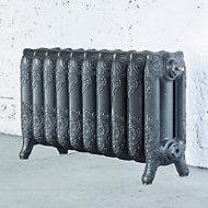 Arroll Montmartre 3 Column radiator, Cast grey (W)834mm (H)470mm