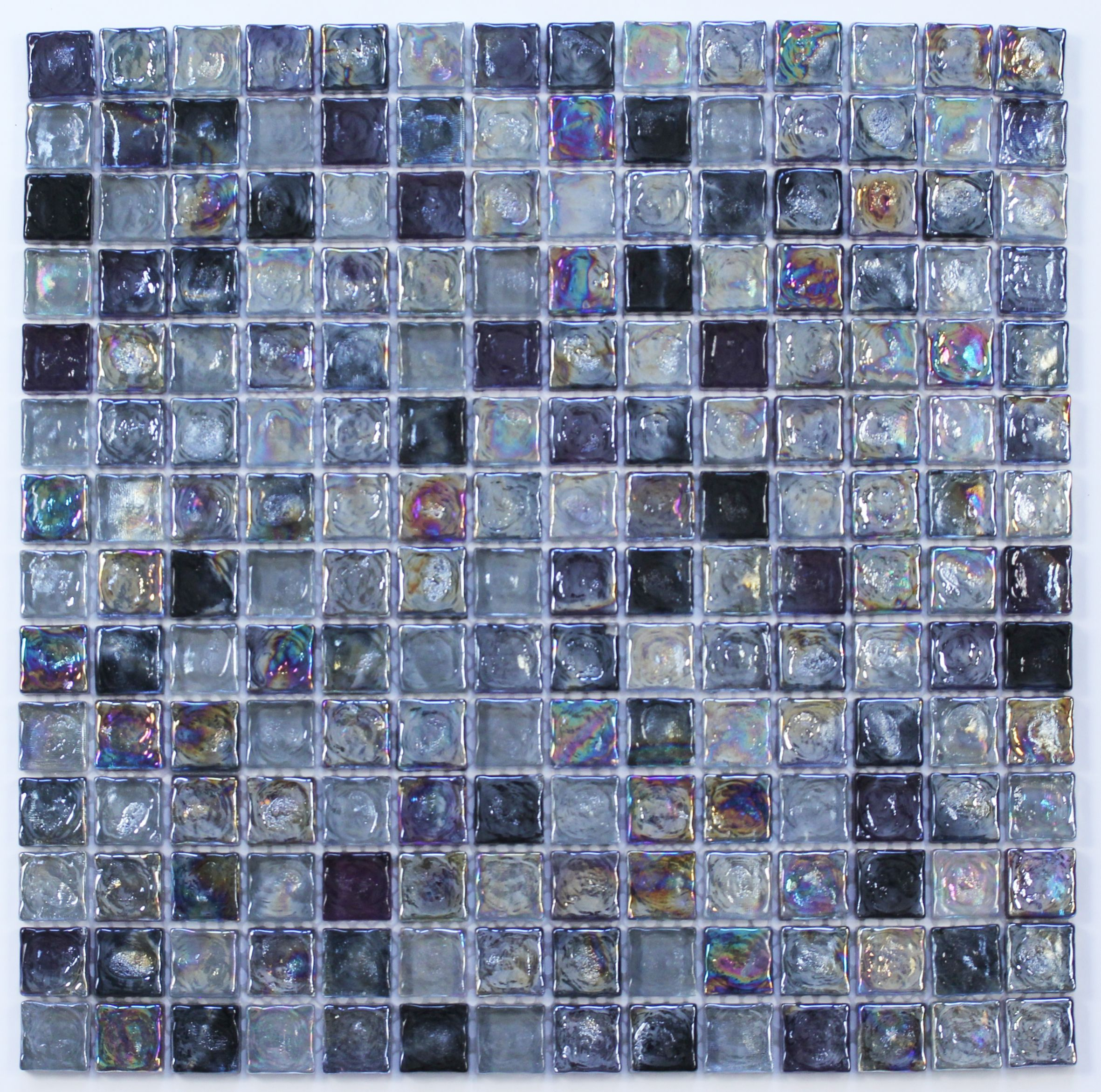 Brown Mosaic Glass Stone Wall Tile L 300mm W 308mm: Vodka Purple Glass & Marble Mosaic Tile, (L)300mm (W)300mm
