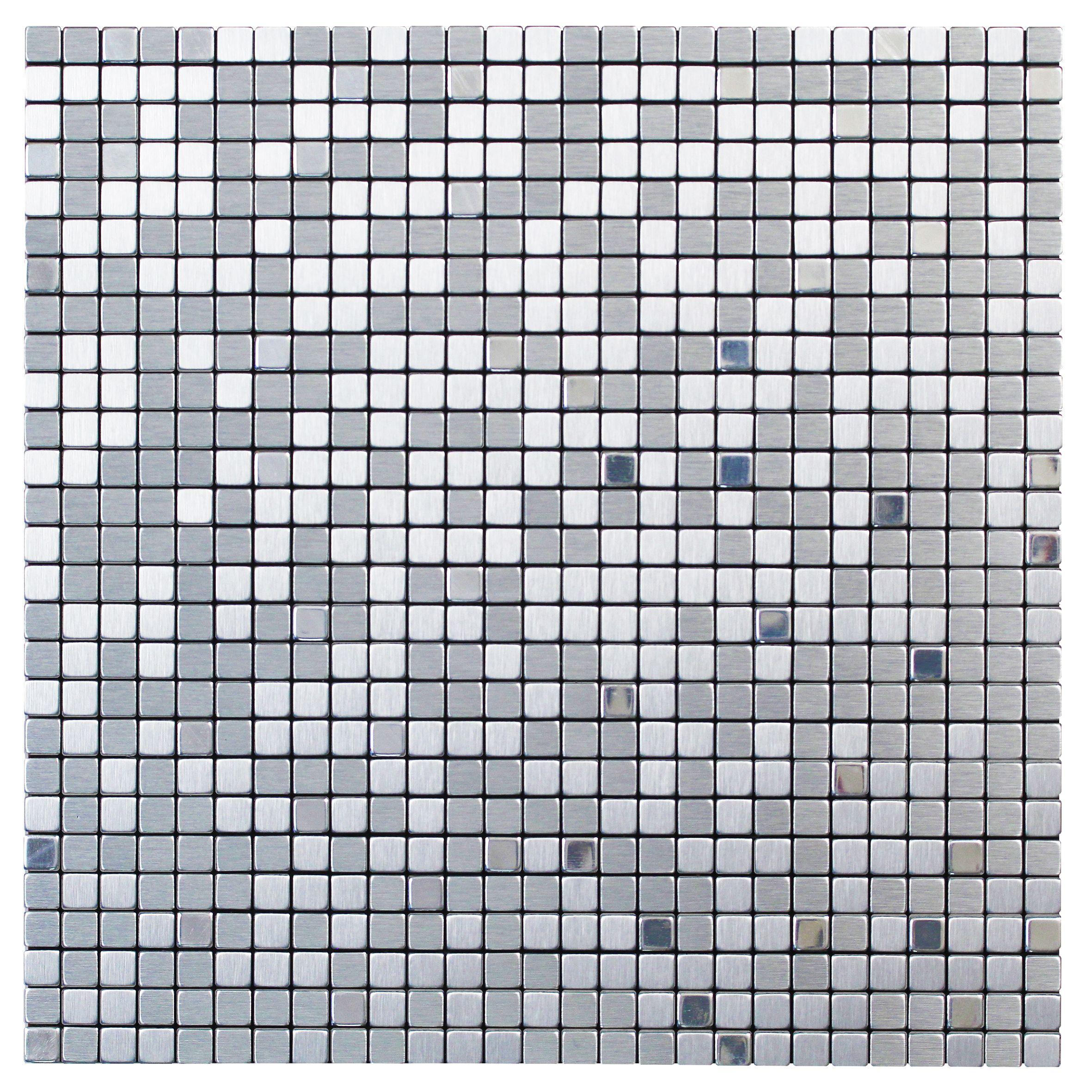 Abu Dhabi Metal Mosaic Tile L 300mm W 300mm Departments Diy At B Q