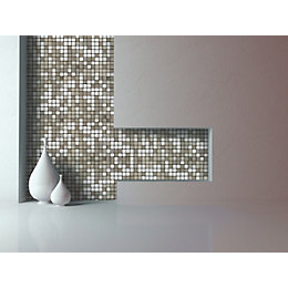 Abu dhabi Silver effect Brushed metal Self-adhesive metal
