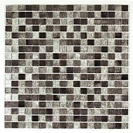 Bruges Silver Foil effect Glass Mosaic tile, (L)300mm