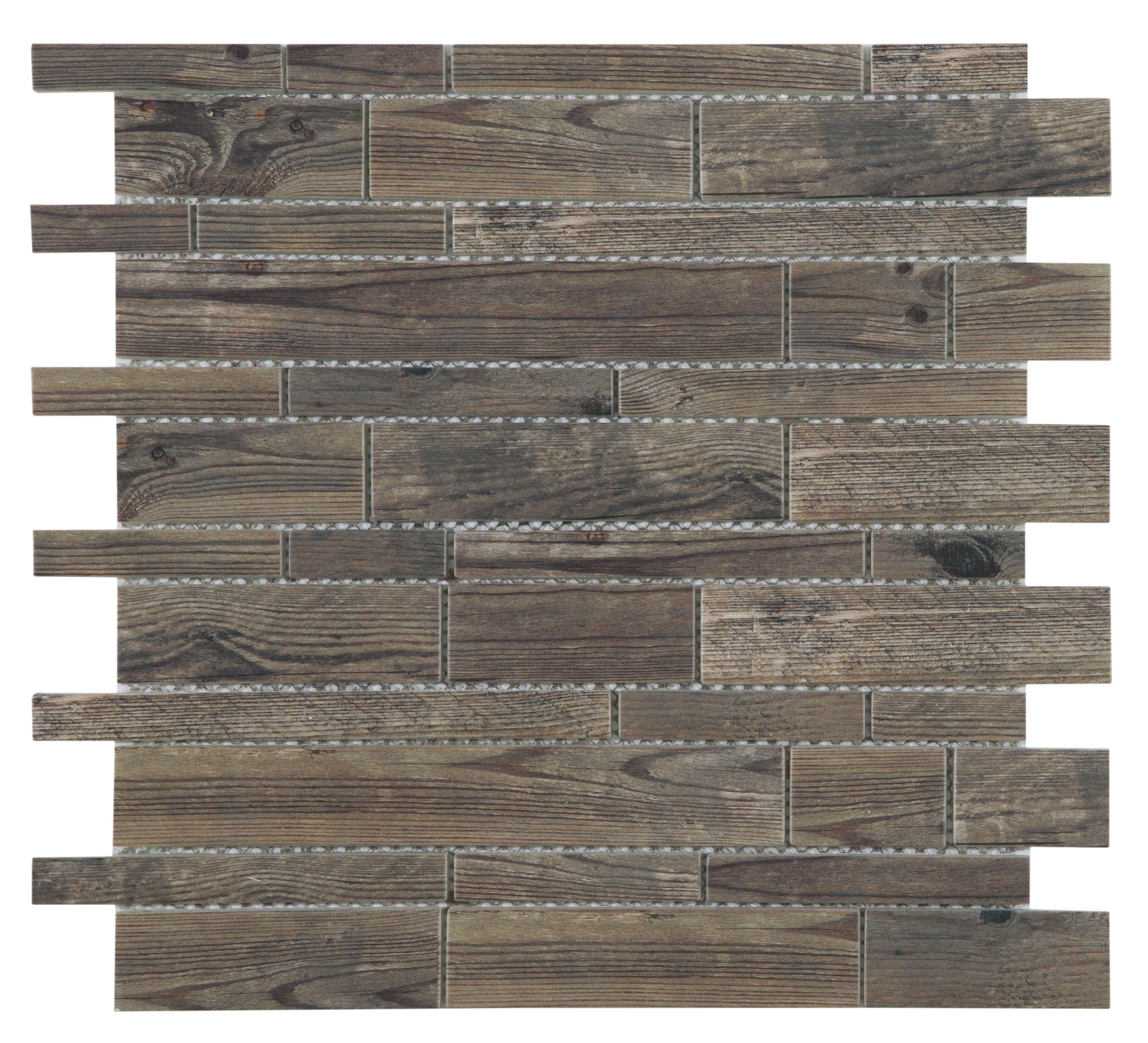 lampang wood effect glass mosaic tile l 302mm w 298mm. Black Bedroom Furniture Sets. Home Design Ideas