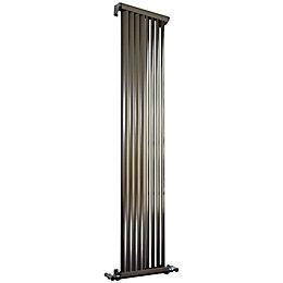 Accuro Korle Zephyra Vertical Radiator Brushed (H)1500 mm