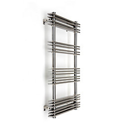 Accuro Korle PAEONIA Silver Towel Warmer (H)784mm (W)500mm