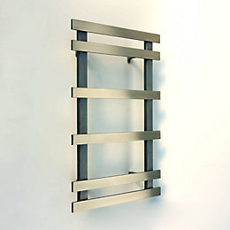 Accuro Korle Daisy Silver Towel Warmer (H)749mm (W)500mm