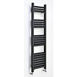 Accuro Korle Champagne Vertical Towel warmer Anthracite (H)1200