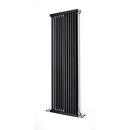 Accuro Korle Zephyra Vertical Radiator Anthracite (H)1500 mm