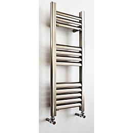 Accuro Korle Champagne Vertical Towel Warmer Brushed Aluminium