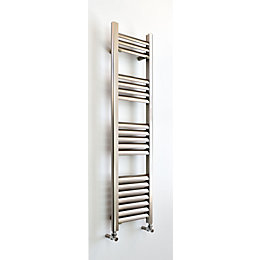 Champagne Vertical Towel Warmer Brushed Aluminium (H)1200 mm