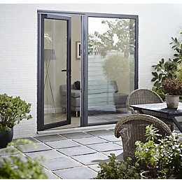 Crystal Grey PVCu & Aluminium Glazed Standard Single