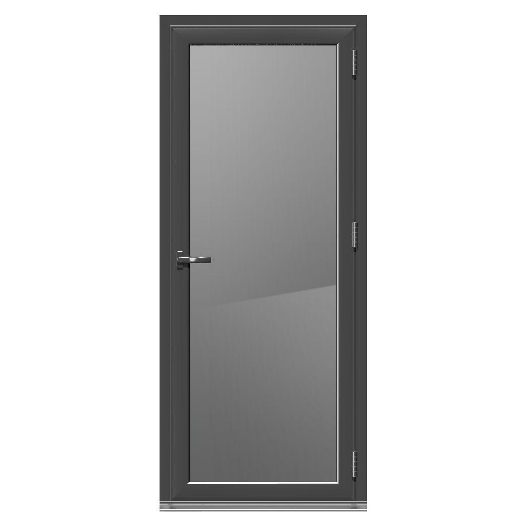 Crystal Grey Pvcu Amp Aluminium Glazed Standard Single Door