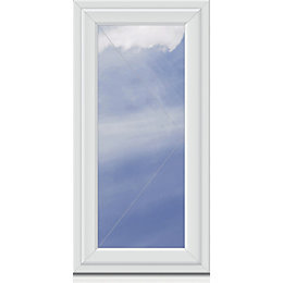 White PVCu RH Side Hung Window (H)1040mm (W)640mm