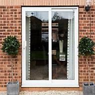 White PVCu Glazed Sliding door Patio door, (H)2090mm (W)1790mm