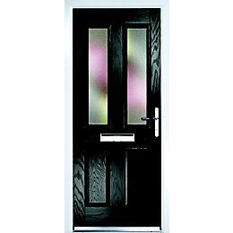 Composite Black PVCu & GRP Glazed External Front