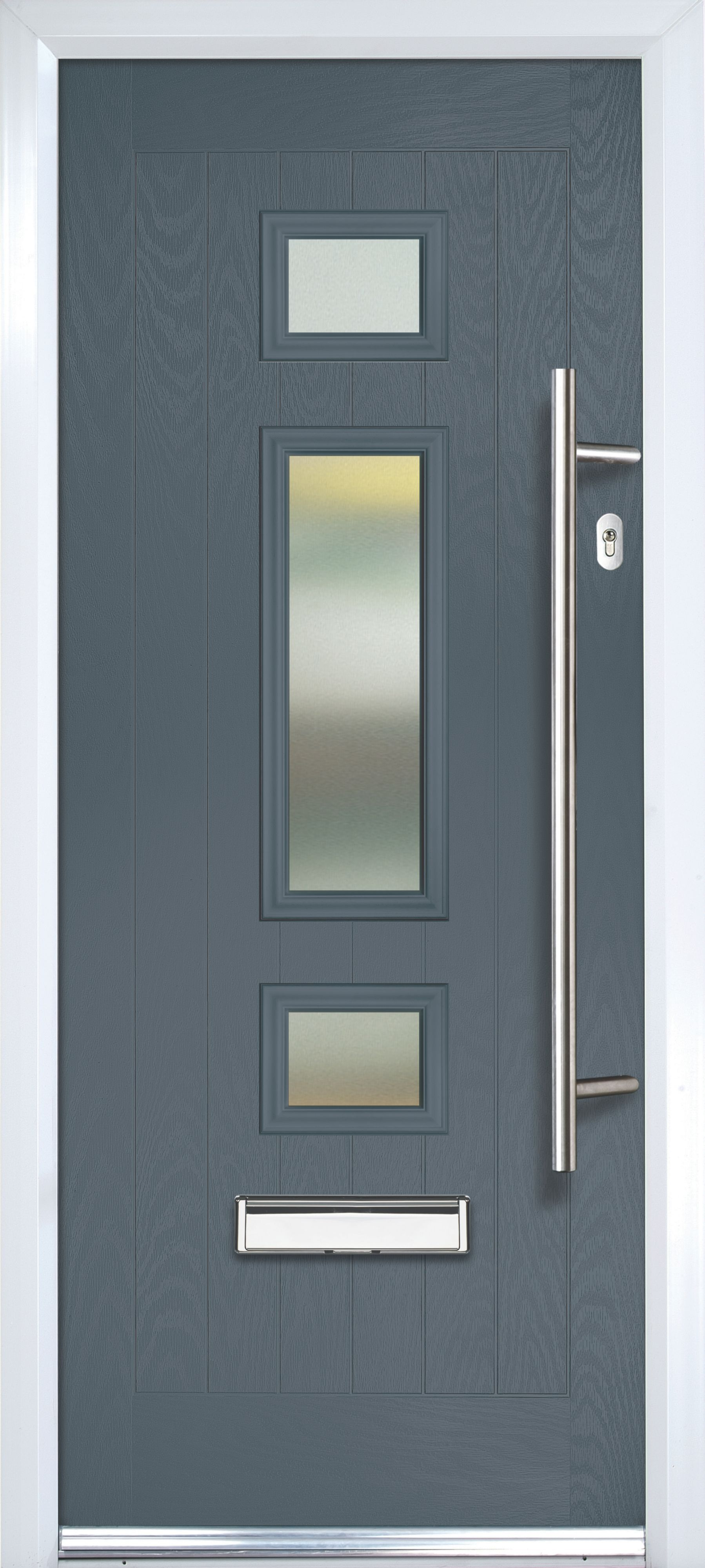 Composite Grey Pvcu Amp Grp Glazed External Front Door