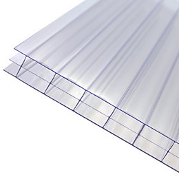 Clear Polycarbonate Twinwall Roofing Sheet 2m x 690mm