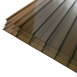 Bronze effect Polycarbonate Multiwall Roofing Sheet 2m x