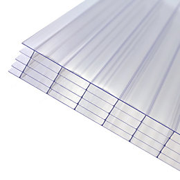 Clear Polycarbonate Multiwall Roofing Sheet 4m x 690mm