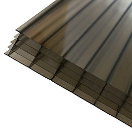 Bronze effect Polycarbonate Multiwall Roofing Sheet 3m x