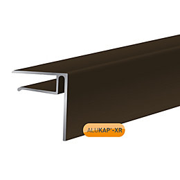 Alukap Brown Axiome sheet endstop, (H)50mm (W)40mm (L)3000mm