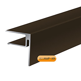 Alukap Brown Axiome sheet endstop, (H)50mm (W)40mm (L)4800mm