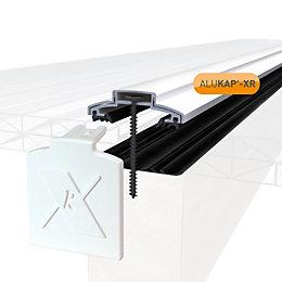 Alukap White Axiome sheet glazing bar, (H)20mm (W)60mm