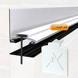 Alukap White Axiome sheet glazing bar, (H)70mm (W)60mm