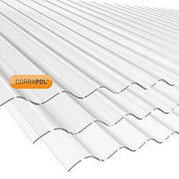 Clear Polycarbonate Roofing Sheet 1.83M x 840mm
