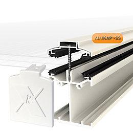 Alukap White Axiome sheet glazing bar, (H)90mm (W)60mm