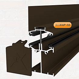 Alukap Brown Axiome sheet glazing bar, (H)140mm (W)60mm