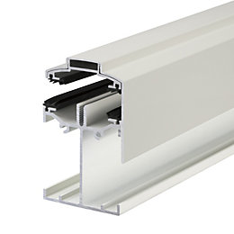 Alukap White Axiome sheet glazing bar, (H)90mm (W)60mm