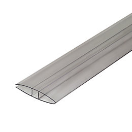 Clear Polycarbonate Glazing Bar 4m x 60mm