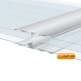 Silver Aluminium Axiome sheet or glass glazing bar