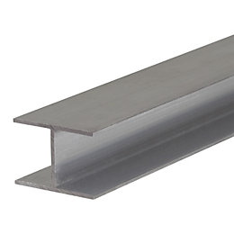 Silver Aluminium Glazing Bar 4m x 60mm