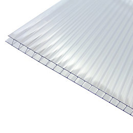Clear Polycarbonate Twinwall Roofing Sheet 4m x 1000mm