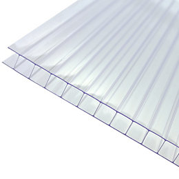 Clear Polycarbonate Twinwall Roofing Sheet 2.5m x 690mm