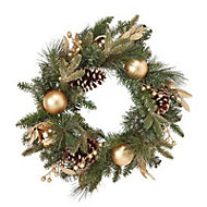 50cm Baubles, berries & pine cone Wreath