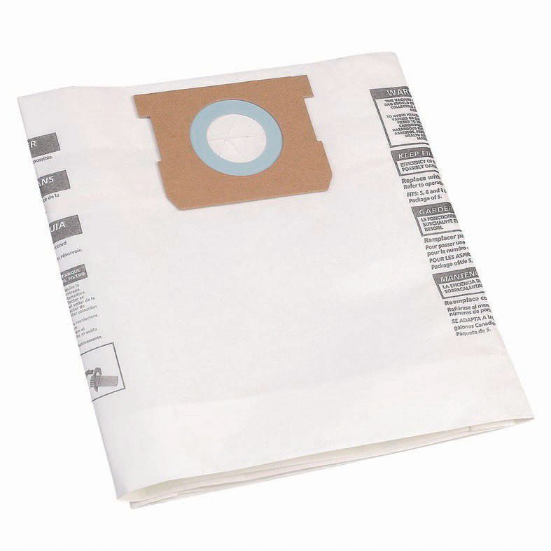 Mac Allister White Vacuum cleaner bag 30L, Pack of 5 ...