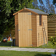 6x4 Shetland Apex roof Shiplap Wooden Shed With assembly service Base included